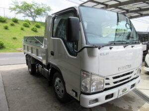 いすゞ エルフ 3トン強化ダンプ SG 年式R3年5月 走行距離 100キロ 車両金額 398万円